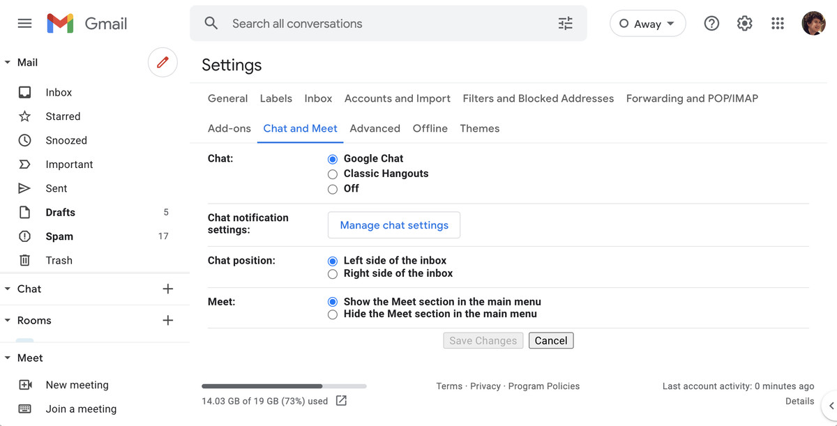 You can hide the Meet buttons from your Gmail.
